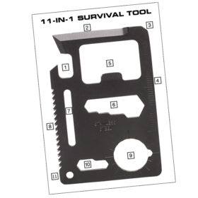 11-IN-1 Pocket Survival Tool