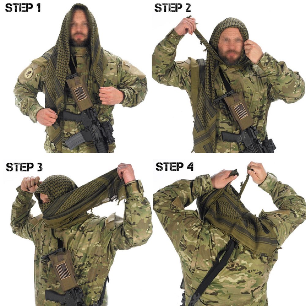 Look - How to shemagh a wear military video