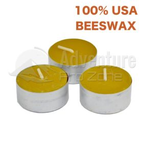 Beeswax Tealight Survival Candle, 6 Hrs, Made in USA