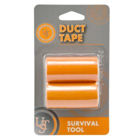 Duct Tape has hundreds of uses in emergency and survival situations. When equipment fails or breaks, solve the problem with the Duct Tape.
