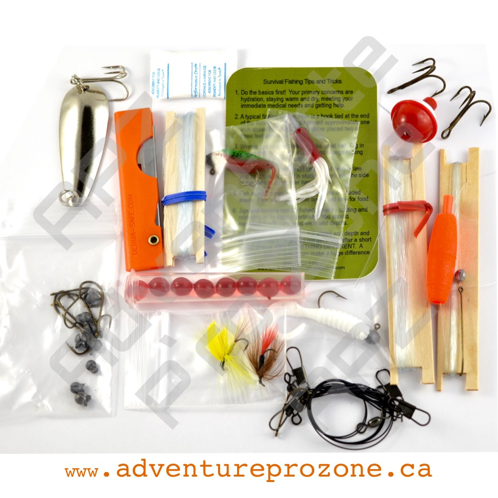 Best glide standard survival fishing kit adventure pro zone for Survival fishing kit