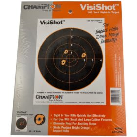 "VisiShot 100 Yard Sight-In Targets, 8"" bulls, 10-pack"
