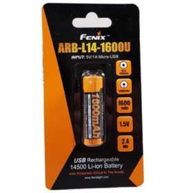Fenix ARB-L14-1600U Built-In USB high capacity 14500 Li-ion rechargeable battery