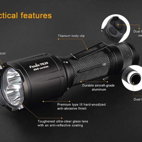 Fenix TK24 R&B Blue/Red Light Flashlight