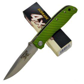 SCHRADE X-Timer Pocket Knife, Green, with liner lock