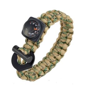 APZ Survival Bracelet w/Thermometer and Fire Starter