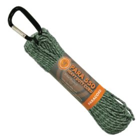 UST Para 550 Hank 30 ft, Green Camo Paracord