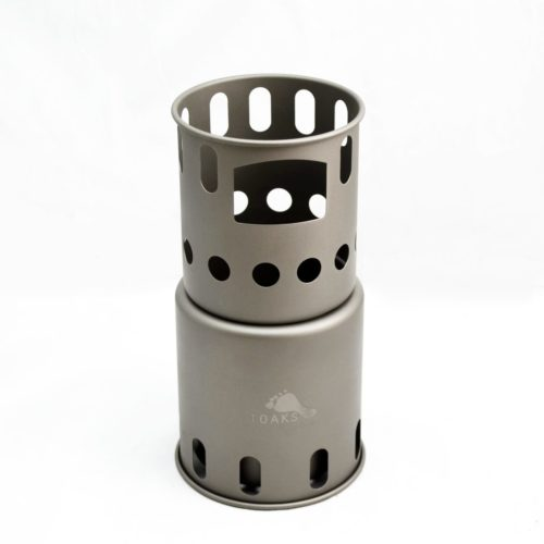 TOAKS Titanium Backpacking Wood Burning Stove, Small