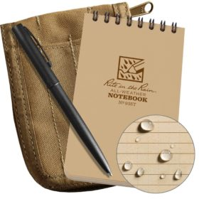 All-Weather Top-Spiral Notebook Kit, 3 x 5 inch, Tan
