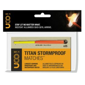 UCO TITAN STORMPROOF MATCHES, 25-Pack