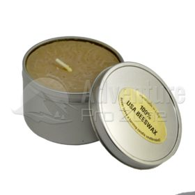 Large Beeswax Emergency Tin Candle, 8 oz.