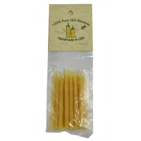 Mini 3 inch Beeswax Candles, 12-pack