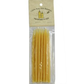 Mini 5 inch Beeswax Candles, 12-pack