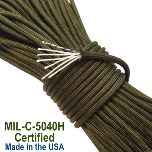 MIL-C-5040H Type III 550 Paracord, Military Certified