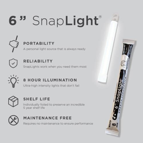 8-Hour Cyalume SnapLight, 6 inch - Light Stick