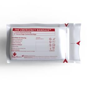 """Emergency Bandage White, 4"""""""