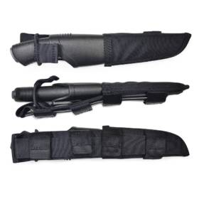 Morakniv Bushcraft Tactical, Black, Carbon Steel