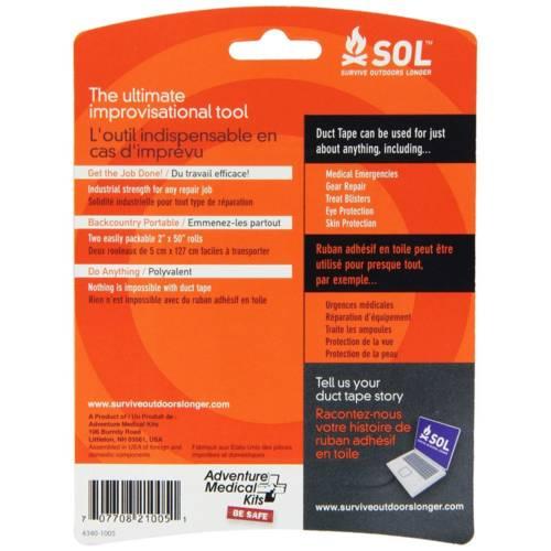 SOL Duct Tape, 2 x 50 inch Rolls