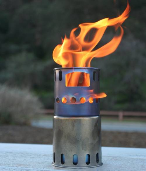 Titanium Backpacking Wood Burning Stove
