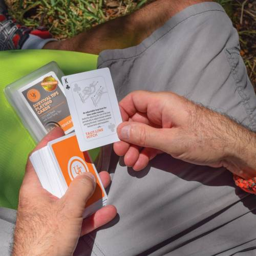 Survival Tips Playing Cards with Knot Tips