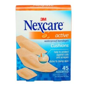 Nexcare Active Waterproof Bandages w/Cushions