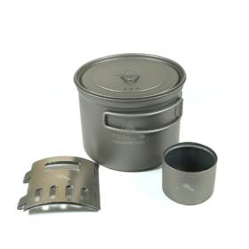 Titanium Alcohol Stove Cook System with 900 ml Pot