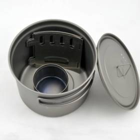 Titanium Alcohol Stove Cook System with 900 ml Pot