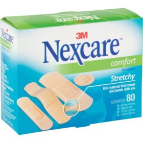 Nexcare™ Comfort Bandages, Assorted, 80/Pack