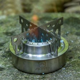 Alcohol Stove with Cross Stand