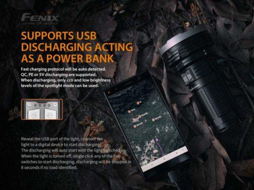 Fenix LR40R Rechargeable Flashlight, 12000 Lumens