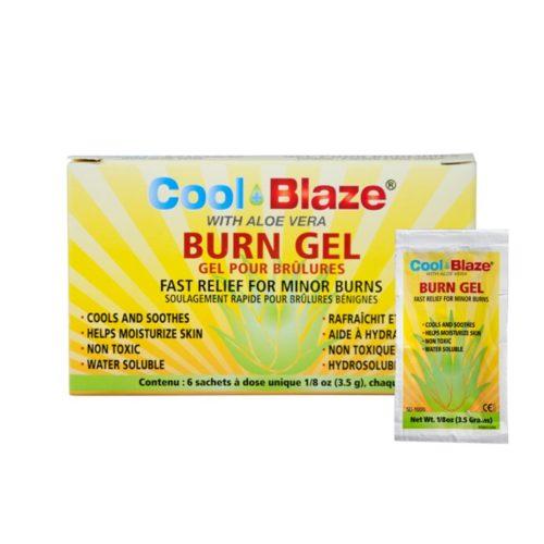 Cool Blaze Burn Gel w/Aloe Vera, 6/Pack