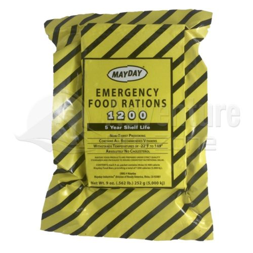 Mayday Emergency Food Ration, 1200 Calorie