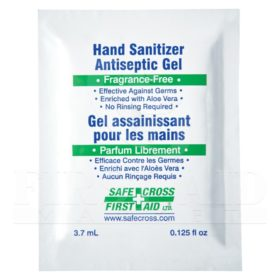 Hand Sanitizer Antiseptic Gel, 3.7 mL