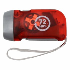 72HRS Hand-Crank Flashlight, Pre-charged